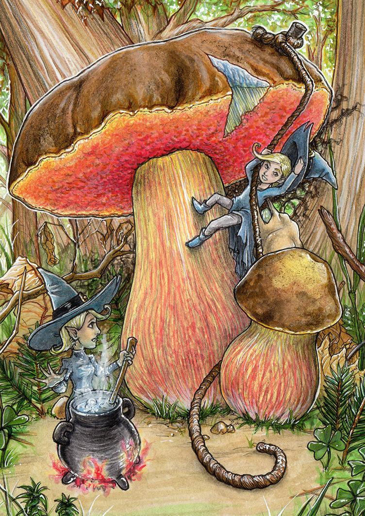 witch mushroom by SarahPilz