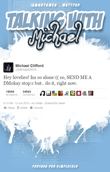 Talking with Michael // Book Cover // wattpad