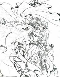Sakura and Syaoran by dcBlackCat