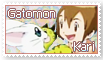 Kari and Gatomon Stamp