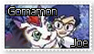 Joe and Gomamon Stamp by funlakota