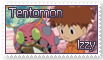 Izzy and Tentomon Stamp by funlakota