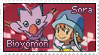 Sora and Bioyomon Stamp by funlakota