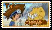 Tai and Agumon Stamp by funlakota