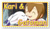 Another Kari and Gatomon Stamp by funlakota