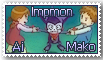 Impmon, Ai, and Mako Stamp