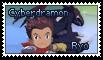Ryo and Cyberdramon Stamp
