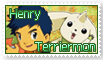 Henry and Terriermon Stamp