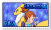 Rika and Renamon Stamp by funlakota