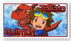 Takato and Guilmon Stamp by funlakota