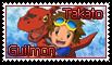 Takato and Guilmon Stamp by funlakota