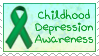 Childhood Depression Awareness Stamp by funlakota