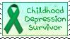 Childhood Depression Survivor Stamp by funlakota