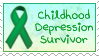 Childhood Depression Survivor Stamp by funlakota