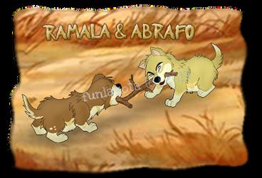 Ramala and Abrafo Playing Tug-of-War by funlakota