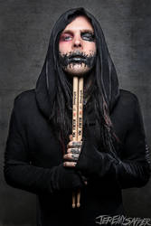 Angelo Parente of Motionless In White  Vic Firth