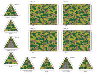 Forest Camo Pup Tents 01 by Crimsonguard477