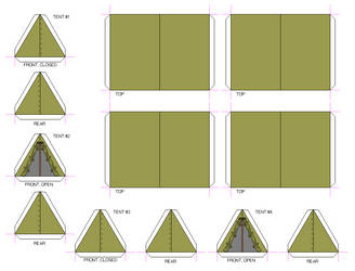OD Green Pup Tents 01 by Crimsonguard477