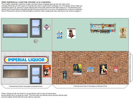 Imperial Liquor Store, 4x6 Model, Page A
