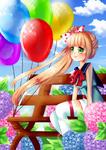 Mionn, balloons and hydrangea