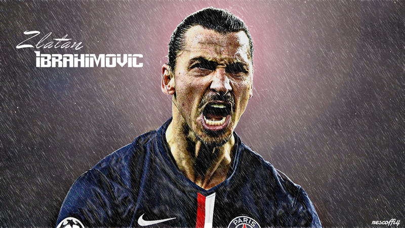 Zlatan Ibrahimovic Psg By Rescoffi4