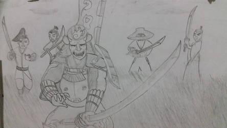 Yoshimitsu vs Ronins