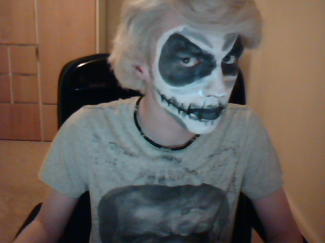 Jack Skellington Face Paint