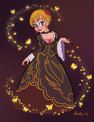 Beatrice the Golden Witch Commission by S-Harkey