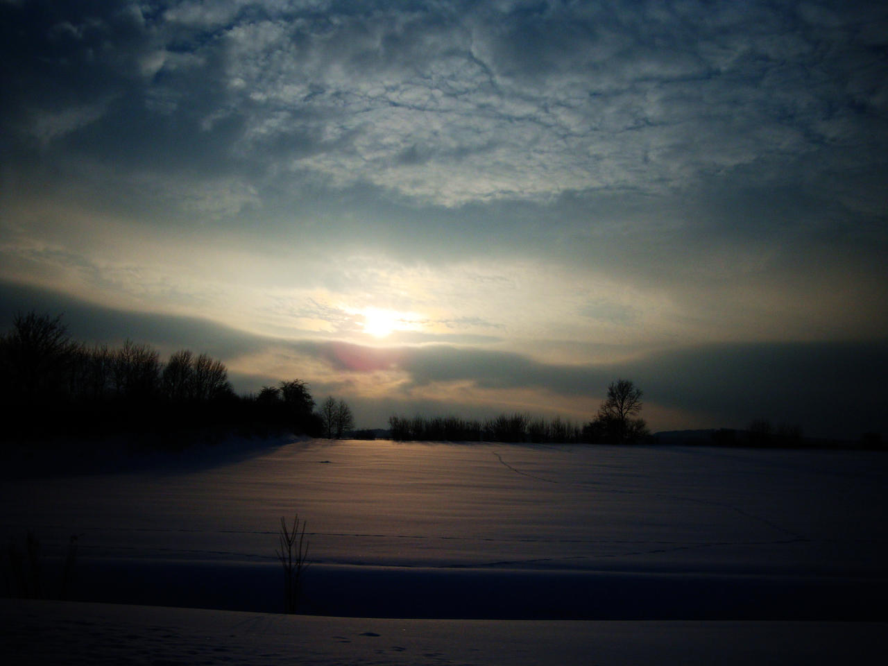 Untouched Snowscape by iCoffeeholic