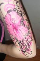 Hibiscus Arm Tattoo Closer by Jennikatt