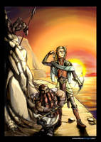 Gimli and Legolas by TORA-KUN