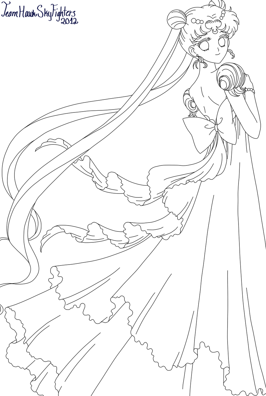 Princess serenity by levi ackerman heicho on deviantart for Serenity coloring pages