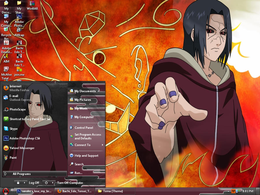 Edo Tensei Itachi Theme For Windows XP by Levi-Ackerman-Heicho
