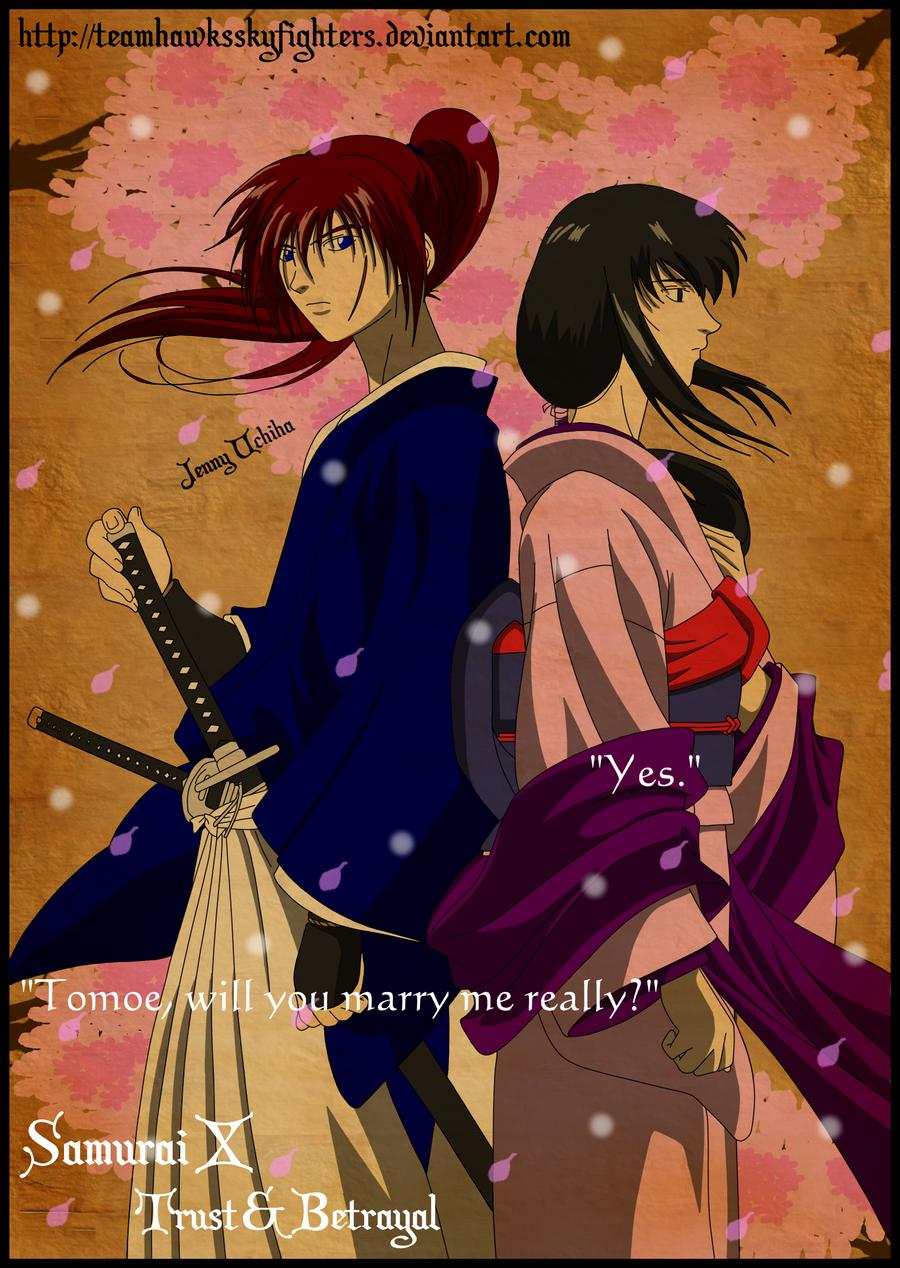 Kenshin and Tomoe: Sakura Drops by Levi-Ackerman-Heicho