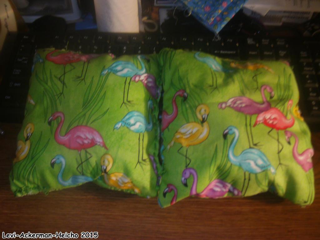 Flamingo Pillows by Levi-Ackerman-Heicho