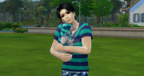 Sims 4 Yoonbum and His Cat
