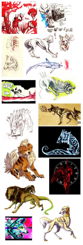 Art dump II by Imaginary-wolf