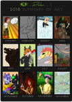 Art Summary 2018 by thedalmatiangirl