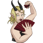 Frank (Satyr) Sticker by DividLibro