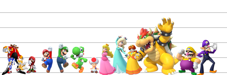 Mario/Sonic Size Chart by jakeroo123 on DeviantArt