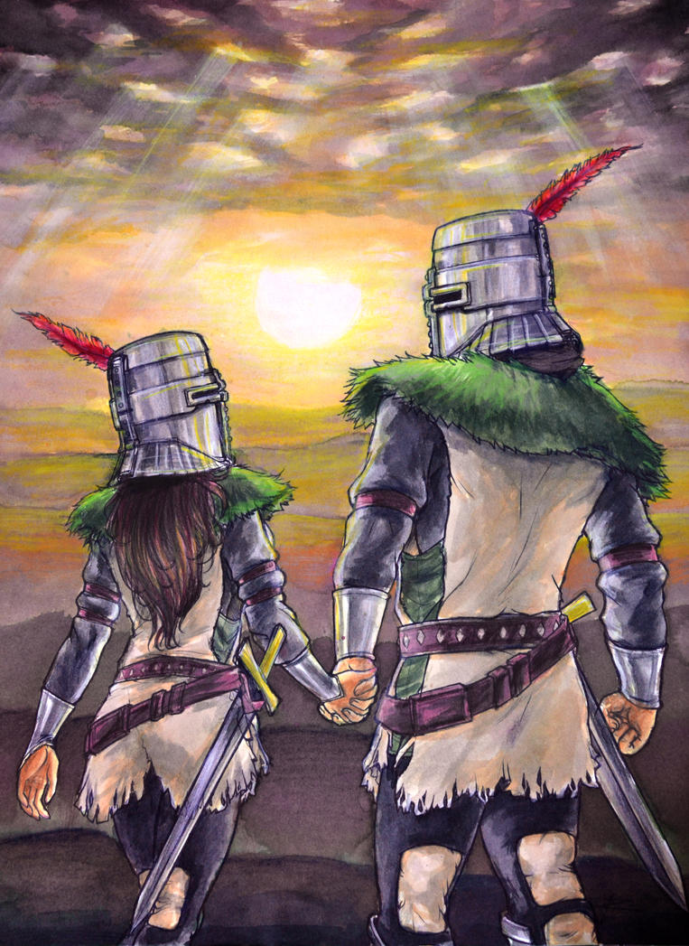 Solaire and Solairette by ReneFelem