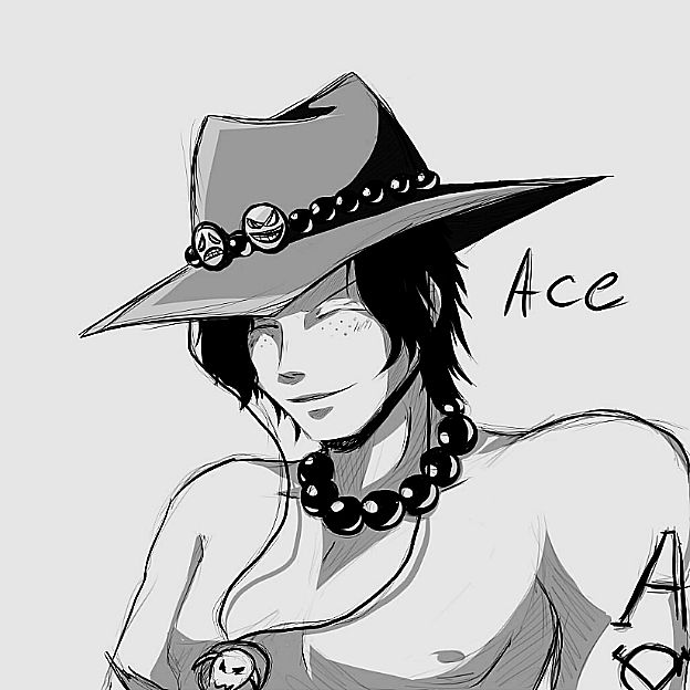 Ace sketch by InsanitylittleRed