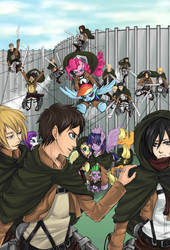 Attack on Titan: The Ponies from Afar. by InsanitylittleRed