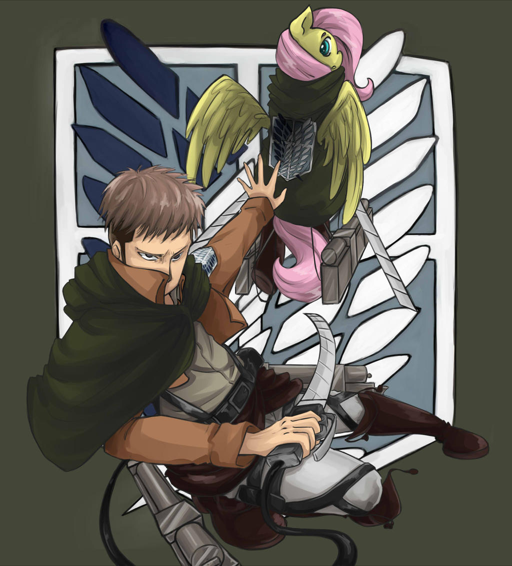 Jean and Fluttershy by InsanitylittleRed