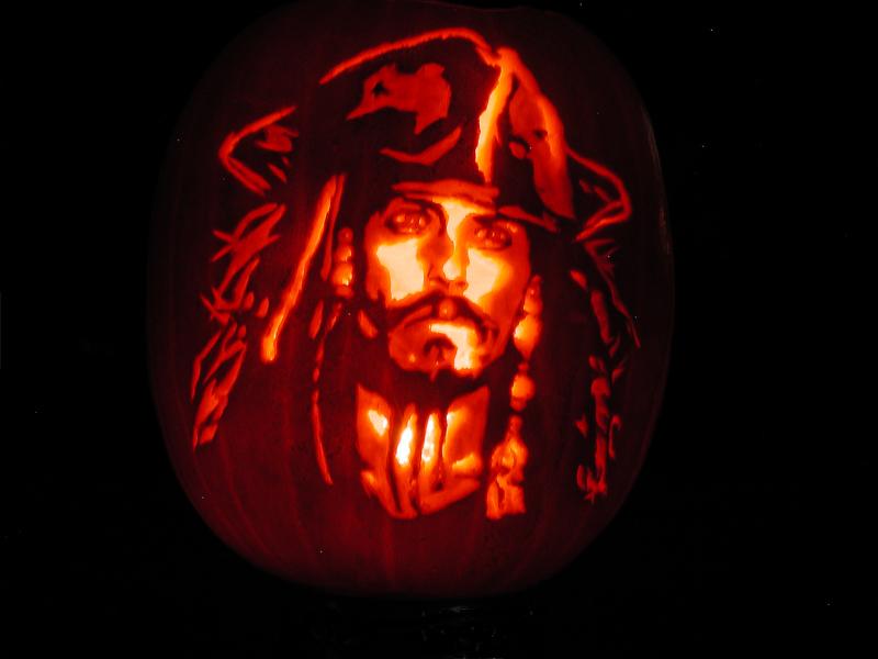 Captain Jack Pumpkin Carving by Keldarak