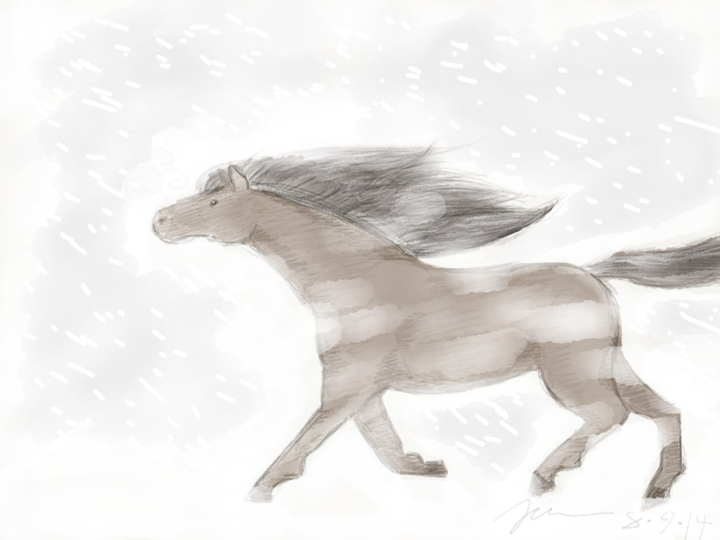 Snow Gallop by ChocolateRiceBall