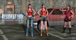 Claire Redfield No Shirt versions xps