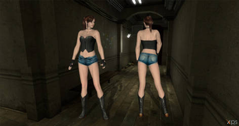 Claire short pants XPS - WIP by ChrisTalyus