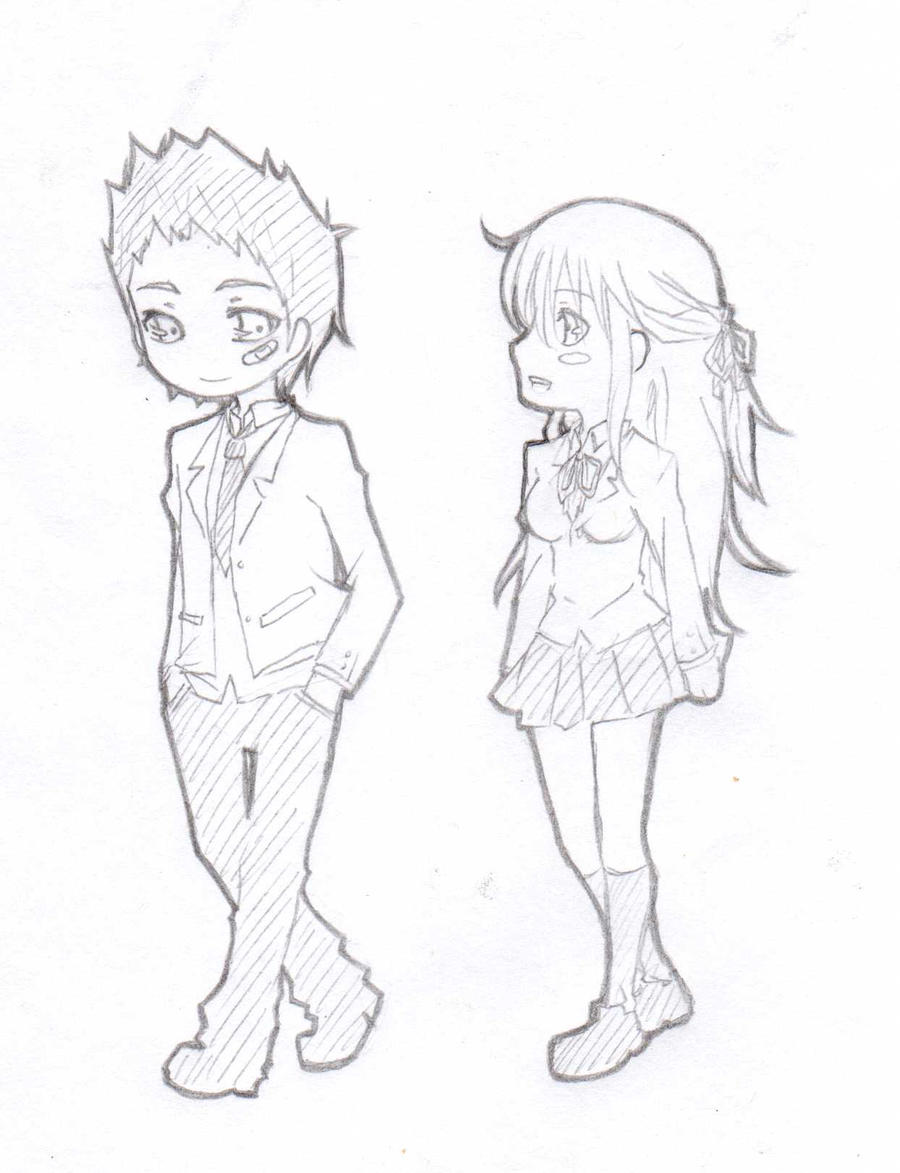 Chibi : Couple by Aumen on DeviantArt