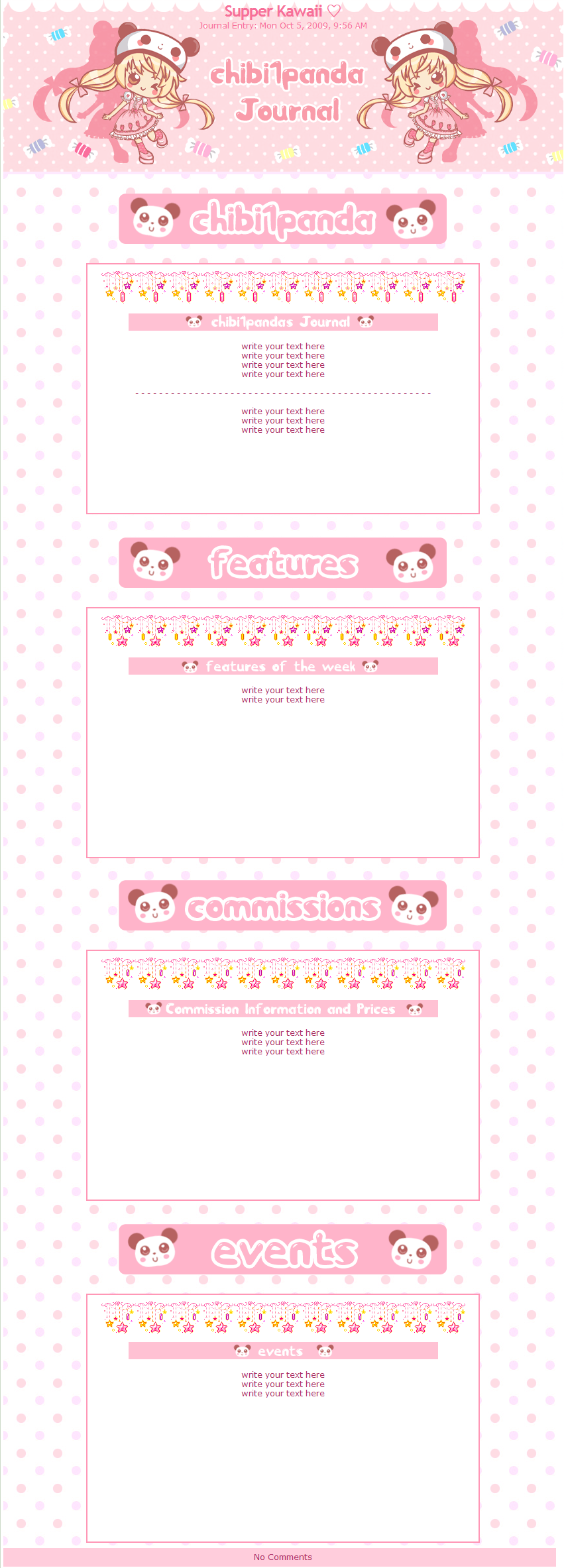 kawaii Journal for chibi1panda by miemie-chan3